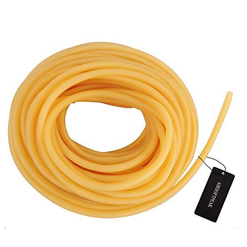 AIRSOFTPEAK Natural Latex Rubber Tubing Speargun Band Slingshot Catapult Surgical Tube Rubber Hose 0.2' OD 0.12' ID, 3ft/ 33ft (33ft-0.24' OD 0.12' ID)