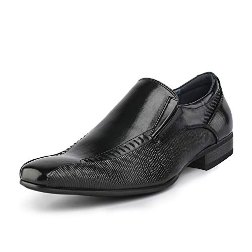 Bruno Marc Men's Gordon-02 Black Leather Lined Dress Loafers Slip On Shoes...