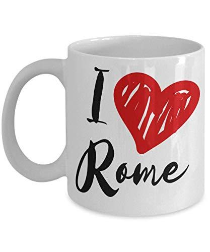 N\A I Taza de los Regalos de Roma del corazón de  Primavera! Love Rome Tazas Roman | Recuerdo Italiano | Regalos de Roma | Recuerdos de Roma | Vacaciones Romanas