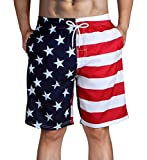 HLVEXH American Flag Bathing Suits for Men Big and Tall Swim...