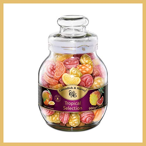 Cavendish & Harvey Tropical Selection Jar 966g with Real Fruit Juice Fruit Candies