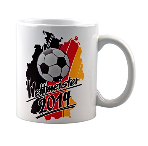 Tasse Weltmeister WM 2014-4 Sterne - ideal als Geschenk oder Fanartikel