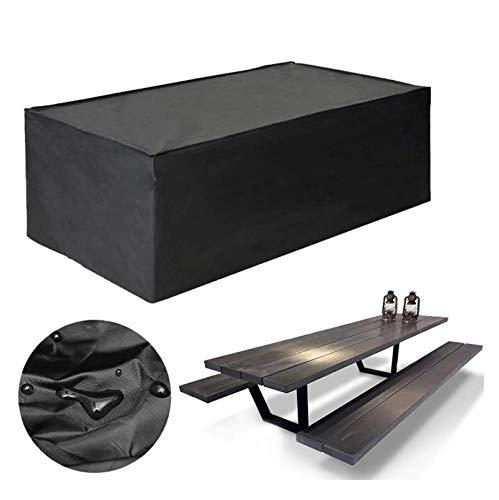 Harddo Housses de Meubles de Jardin imperméables rectangulaires, rectangulaires, résistantes au Vent et aux UV, pour canapés et chaises 315x160x74cm