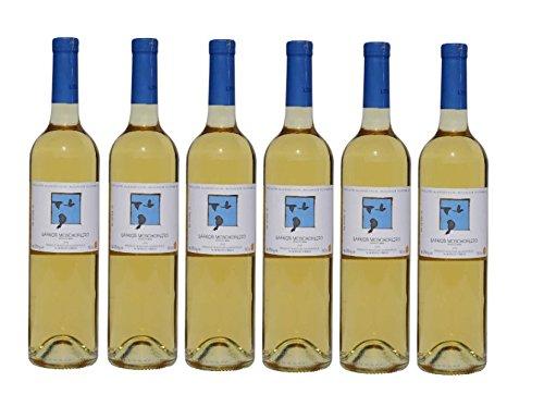6x Moschofilero trockener Weißwein von Lafkioti aus Griechenland Peloponnese griechischer Weiß Wein trocken - 6 Flaschen a 750ml im Set + 2x 10ml Probiersachet Olivenöl von Kreta