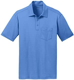 Men's Silk Touch Golf Polo's with Pocket in 9 Colors - Sizes XS-4XL