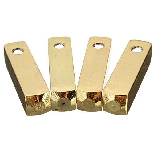 Gesh 4pcs Luxus Metall Aglet Schuhband Schraubmontage Ersatz Farben: Goldene