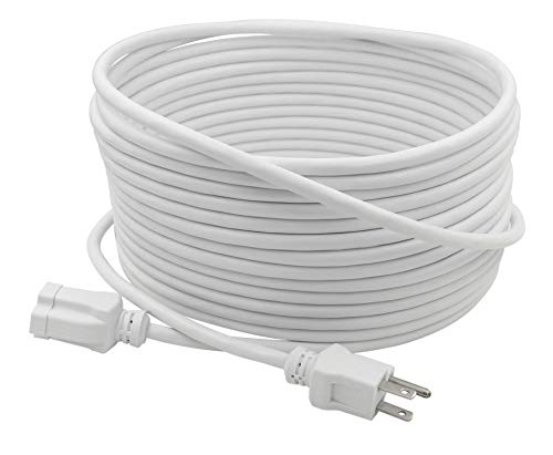white 30 ft extension cord - 8