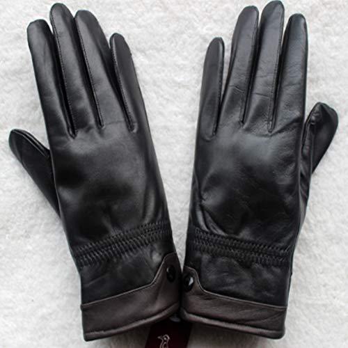 Huoqilin leren handschoenen, voor mannen en vrouwen, voor de winter, warm en fluweelzacht, van schapenleer, dik en dun