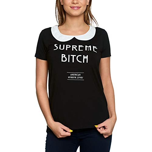American Horror Story Camiseta de Mujer Supreme Bitch Coven Elven Forest Black - S