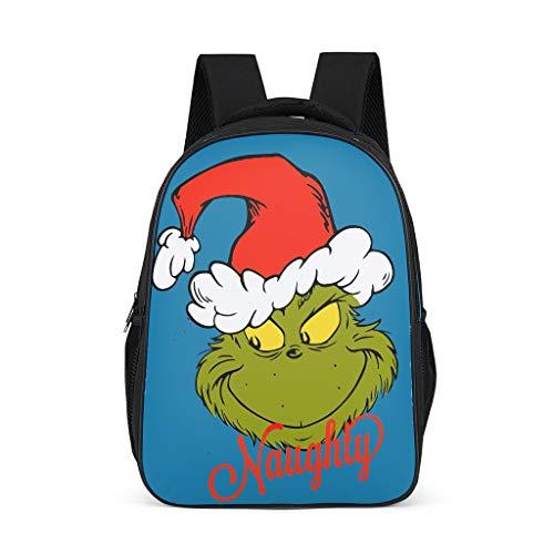 Mochila infantil de Grinch, mochila escolar para niños y adultos, regalo para niños y niñas