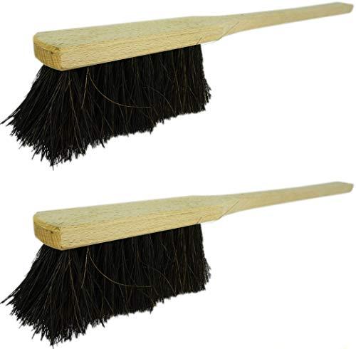 Novaliv 2X Handbesen Langer Stiel I 60 cm I Arengaborsten I Auto Schneebesen Kehrbesen Waschbürste Brush and pan