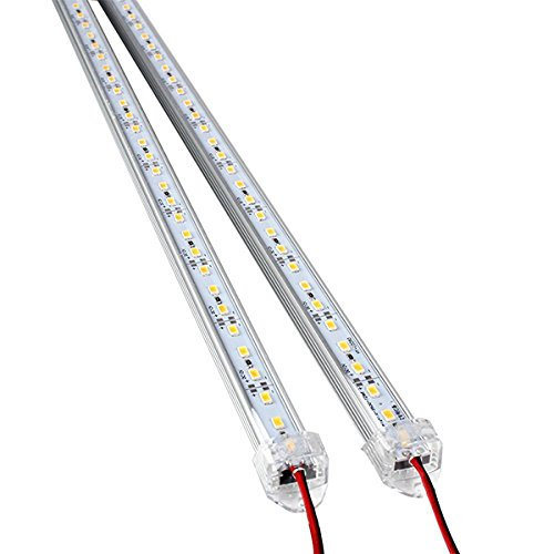 WINOMO 2pcs DC 12V 50CM Alluminio Striscia LED Rigida Barra di Luce Lampada (Bianco)
