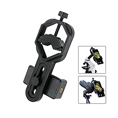 Vankey Cellphone Telescope Adapter Mount, Universal Phone Scope Mount, Work with for Spotting Scope, Telescope, Microscope, Monocular, Binocular, for iPhone, Samsung, HTC, LG and More