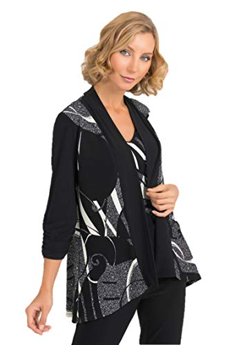 Joseph Ribkoff Black & Multicolor 2 Piece Set Cover-Up Style - 193673 Fall 2019 Collection (16)