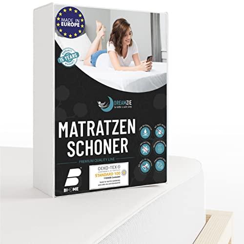 Dreamzie - Matratzenschoner 90 x 200 cm Wasserdicht - Atmungsaktive Matratzenauflagen 100% Baumwolle - Matratzen Topper Anti-Allergisch, Anti-Milben & Hygienischer - 15 Jahre Garantie