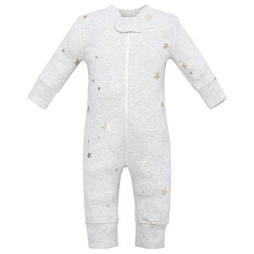 Owlivia Organic Cotton Baby Boy Girl Zip Up Sleep N Play, Footless, Long Sleeve...