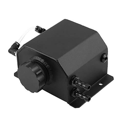 Duokon El tanque de refrigerante de aluminio modificado de la aleación 1L del coche, la captura del aceite de motor puede respirar la botella del tanque con negro del tapón de drenaje