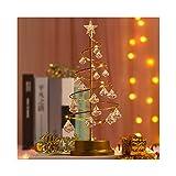 DIOUS Lámpara de Cristal de Forma de árbol de Navidad, exhibición de Estrella de decoración de Escritorio Luminosa, Mesa de lámparas de Noche de habitación y Dormitorio,Blanco