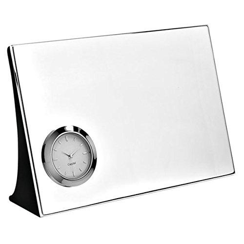 Silberkanne Reloj de Mesa sin Tic-TAC, 18 x 12 cm, Chapado en Plata, Acabado de Calidad
