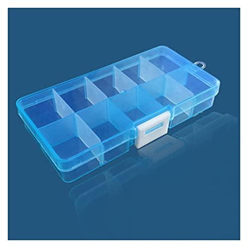 Caja de herramientas Caja de herramientas portátil colorida extraíble 10 tragamonedas Almacenamiento de almacenamiento Joyas Anillo Piezas electrónicas Tornillo Beads Organizador Caja de plástico Caja