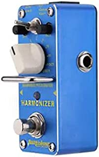 HoganeyVan Harmonizer Harmonist Pitch Shifter Electric Guitar Effect Pedal Mini Single Effect with True Bypass Blue