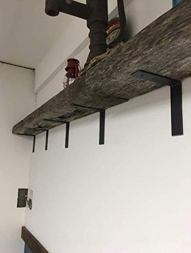 "4 Pack - 4""L x 3""H Angle Shelf Bracket, Iron Shelf Brackets, Metal Shelf Bracket, Industrial Shelf Bracket, Modern Shelf Bracket, Shelving"