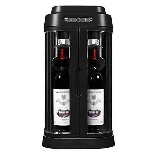 CHENMAO Escritorio Vino Fresco de Mantenimiento de máquinas, 2 Palos |Temperatura de Control Inteligente |Cristal de la Puerta gabinete del Vino