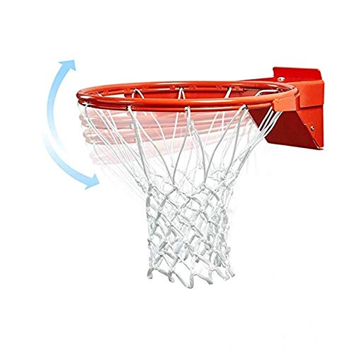katop Basketball Flex Rim Replacement,Heavy Duty Breakaway Spring Basketball Rim Goal(Outdoor and Indoor) (Orange 01, 18 inch)