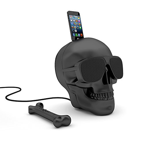 Jarre Technologies AeroSkull HD+ Bluetooth Lautsprecher (Bluetooth 4, 120W RMS, für iPod / iPhone) Matt Schwarz