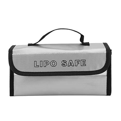 Smandy Feuerfeste Batterietasche Tragbare explosionssichere Akku Tasche Schutzhülle Sack Hohe Temperaturbeständigkeit Ladebeutel Schutztasche für Ladung und Lagerung