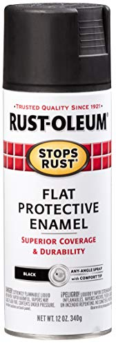 Rust-Oleum 7776830-6PK Stops Rust Spray Paint, 12 Oz, Flat Black, 6 Pack