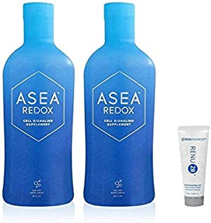 ASEA REDOX Cell Signaling Supplement + Renu28 Sample (two 32oz bottle + one 10mL)