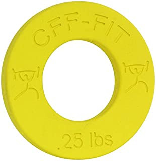 CFF 0.25 lb Competition Rubber Fractional Weight Plates - Pair