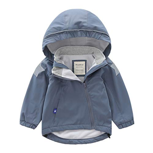 Check Out This Kids Baby Clothes Boy Girl Raincoat Hoodies Full Zip Padded Outdoor Waterproof Rain J...