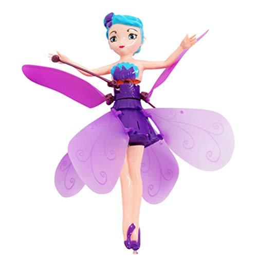 Schimer Fliegende Fee Puppe Infrarot Induktionssteuerung RC Hubschrauber Kinderspielzeug Teen Spielzeug Ballett Mädchen Fliegende Prinzessin Puppe, Keine Fernbedienung