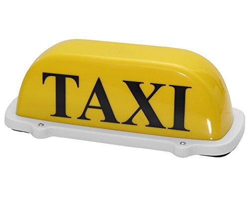 Edelstahlmarkenshop Taxischild Dachzeichen Dachschild Taxi Gelb Lampe Licht Beleuchtung 12V