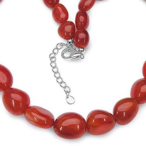 Collar de piedras preciosas cornalina/423 quilates plata esterlina 925