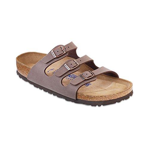 Birkenstock Women's Florida Soft Footbed Mocha Birkibuc Sandal 43 R (US Women's 12-12.5)