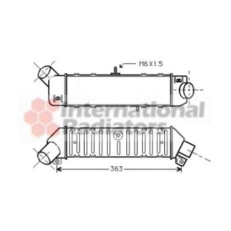 Van Wezel 58004306 Ladeluftkühler Auto