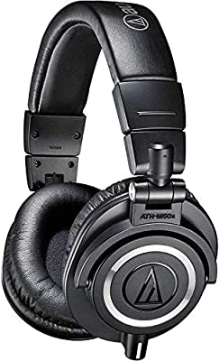 Audio-Technica ATH-M50x Professional Studio Monitor Headphones, Black by Audio-Technica U.S