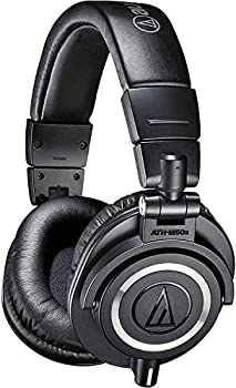 Audio-Technica ATH-M50X Professional Studio Monitor Headphones Black Professional Grade Critically Acclaimed with Detachable Cable