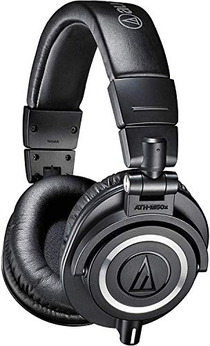 Audio-Technica ATH-M50X Studio Monitor Professional Headphones - Black