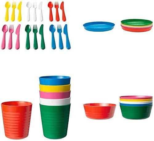 IKEA 36-teiliges Geschirr-Set, verschiedene Farben