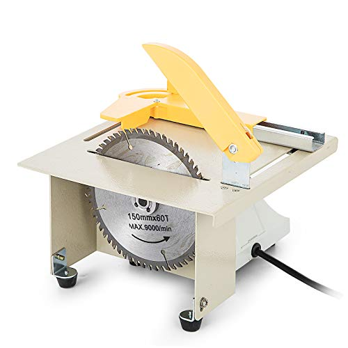 Techlifer - Sierra circular de mesa DIY 350 W, sierra de banco ...