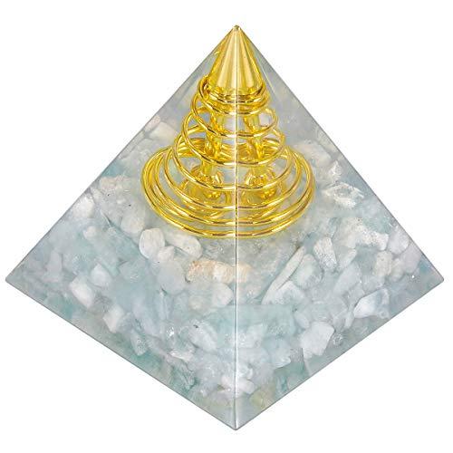 mookaitedecor Ocean Kyanite Heilkristall Quarz Pyramide, Positive Energiepyramide für EMF Schutz Meditation/Yoga/Heilung Chakra/Wohnkultur 55mm