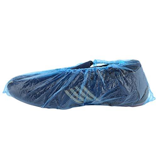 100 Unids / set Desechables Cubiertas de Zapatos de Plástico Habitaciones Al Aire Libre Impermeable Bota de Lluvia Alfombra Limpia Calzas de Calzado de Hospital Kits de Cuidado de Zapatos JBP-X