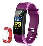 F-FISH Orologio Fitness Tracker Pressione Sanguigna Cardiofrequenzimetro da Polso Uomo Donna Impermeabile IP67 Smartwatch Sonno Braccialetto Pedometro Contapassi per iPhone Samsung Huawei