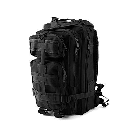 RatenKont Mochila Militar táctica al Aire Libre 1000D Nylon 30L Deportes Impermeables Camping Senderismo Bolsas Caza Black 30-40L