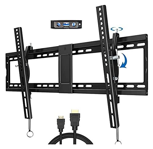 WECDS Tilt - Soporte de pared para TV de 40 a 90 pulgadas, pantalla plana de plasma, curvado, soporte de TV con VESA 800 x 400 mm (color: negro)