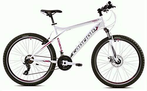 breluxx® 26 Zoll Mountainbike Hardtail FS Disk Cobra 2.0 Sport weiß, 21 Gang Shimano, FS + Scheibenbremsen - Modell 2020